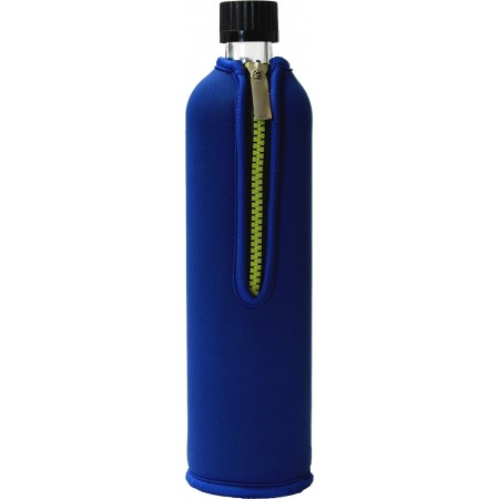 BOTELLA VIDRIO FUNDA AZUL 500 ML