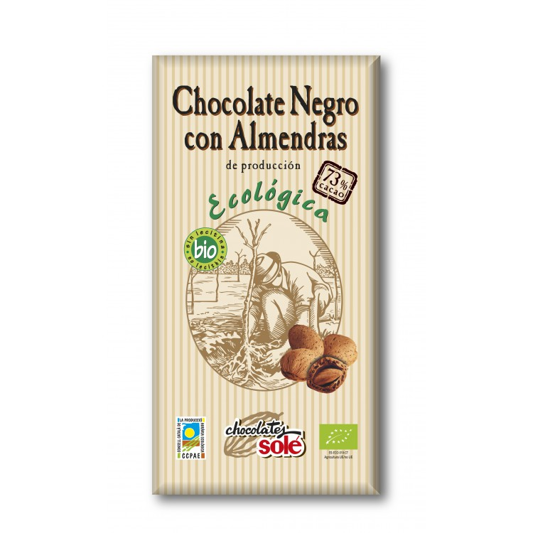 CHOCOLATE NEGRO ALMENDRA 100G
